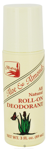 Alvera - All Natural Roll-On Deodorant Aloe & Almonds - 3 oz.